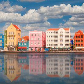 Handelskade in Willemstad Panorama #2 van Edwin Mooijaart