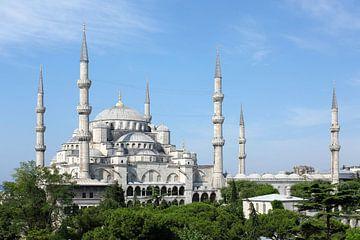 Sultan-Ahmed-Moschee oder Blaue Moschee in Istanbul von Dianne van der Velden