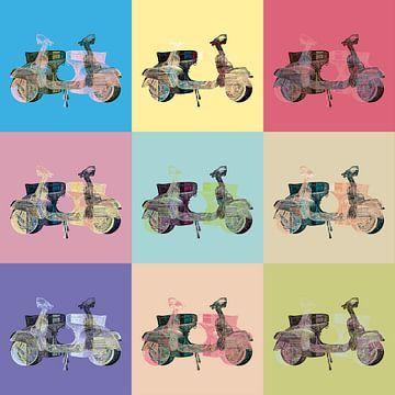9 popart scooters van Joost Hogervorst