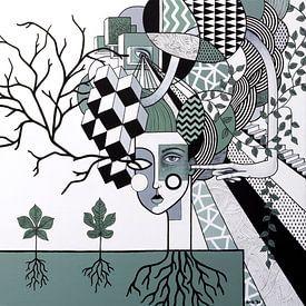 Observer of the mind (nr.2020-12) van Kris Stuurop