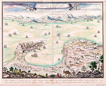 Louis Boudan, Einnahme von Gibraltar, Blick auf die Belagerungsgräber von 1704 von Atelier Liesjes
