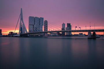 Rotterdam in het ochtendlicht van Ilya Korzelius