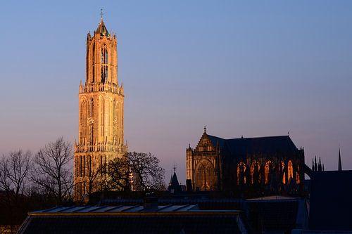 Domtoren en Domkerk in Utrecht van