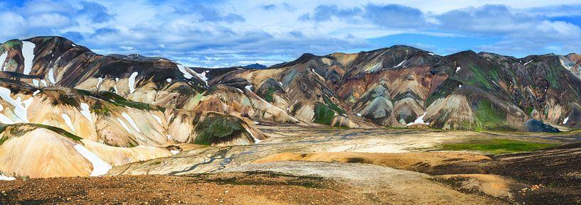 Landmannalaugar een prachtig gebied in IJsland van Yvette Baur