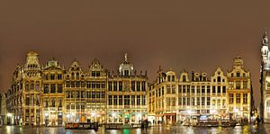 Grote Markt van Brussel Panorama van