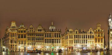 Grote Markt van Brussel Panorama van Panorama Streetline