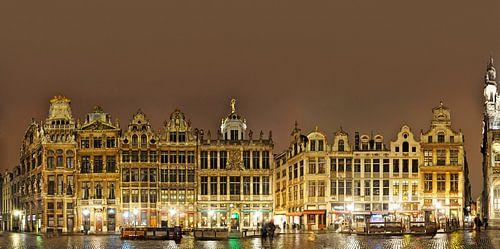Brüssel Grand Place Panorama von Panorama Streetline