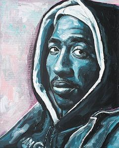 Tupac Shakur schilderij van