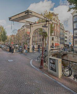 Groenburgwal Amsterdam van Peter Bartelings Photography