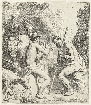 Merkur bringt Argus mit seiner Flöte Jan Lievens, 1625 - 1626, in den Schlaf.
