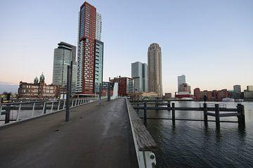 Rijnhavenbrug en de kop van Zuid van Remco Swiers