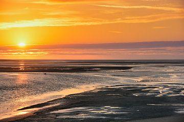 Coucher de soleil sur Somme (1) sur Thea Oranje