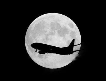 Volle Maan (zwart / wit) van