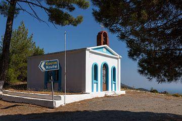 Alte weiße Kirche auf Samos von Elly Damen