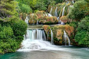 Chute d'eau dans le parc national de Krka, Croatie