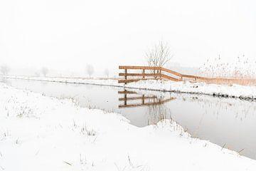 Sneeuw Landschap van Iris Zoutendijk