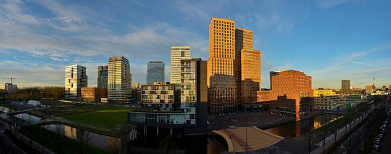 Amsterdam Zuidas Panorama Breed van Mark den Hartog