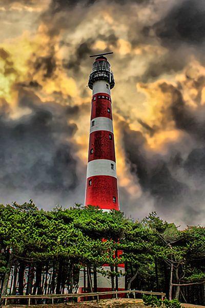 Lighthouse, Ameland, Pays-Bas sur Maarten Kost
