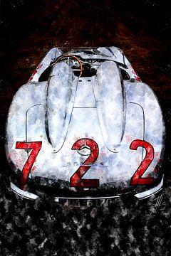 Mercedes SLR, 722 Mille Miglia 1955, Stirling Moss van Theodor Decker
