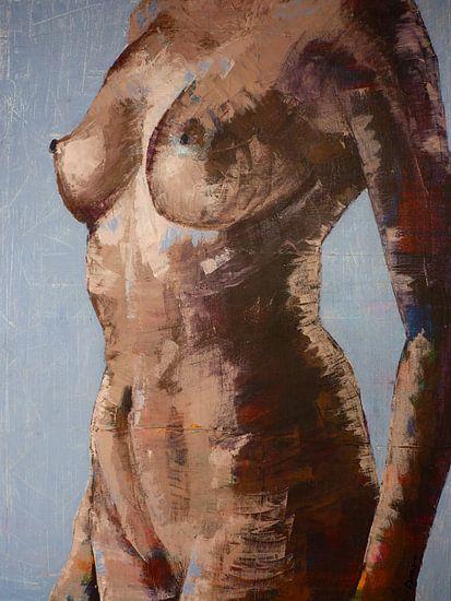 Schilderij, vrouw, body, Poise.