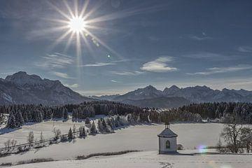 Schneelandschaft im Allgäu van Andreas Stach