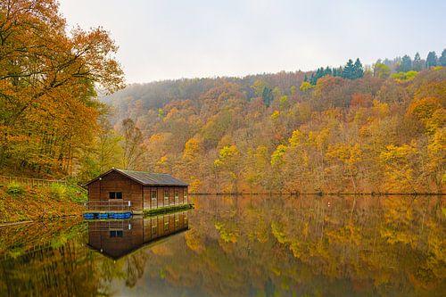 Herfst aan het meer van Nisramont