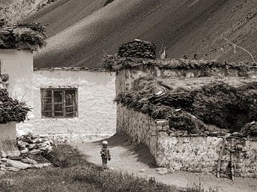 Kind in Zanskar vallei van Affectfotografie
