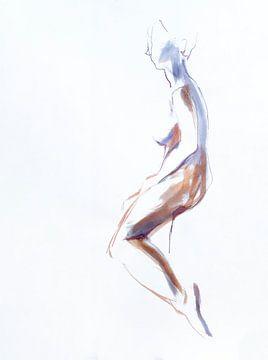 Zittend naakt van Anny Body
