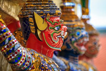 Thaise wachter Grand Palace Bangkok van Jeroen Langeveld, MrLangeveldPhoto