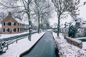 Winter in Giethoorn met de beroemde kanalen