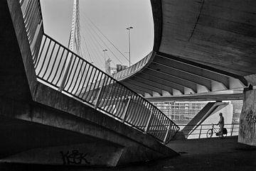 De Erasmusbrug in Rotterdam van Peter Hofwegen