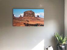 Klantfoto: Monument Valley met Navajo Indiaan van Dimitri Verkuijl, op canvas