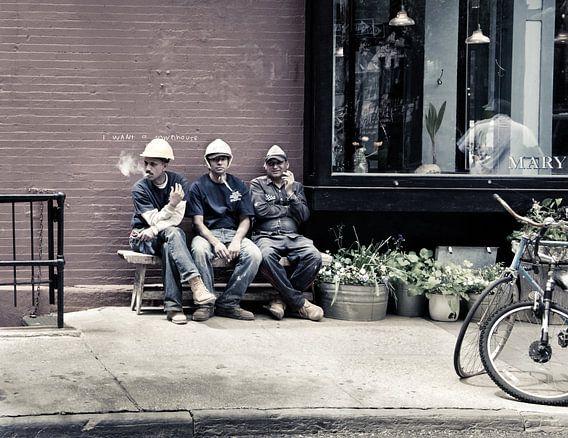 New York City Pauze voor bouwvakkers