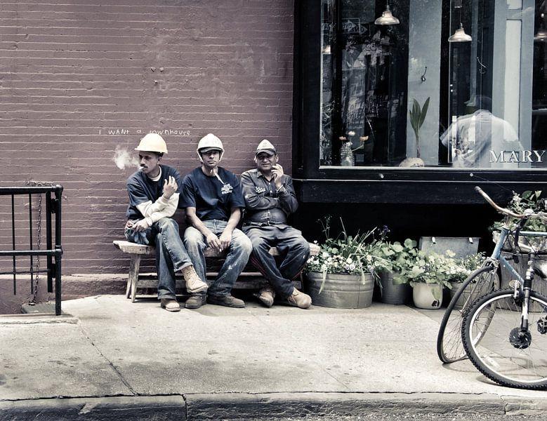 New York City Pauze voor bouwvakkers van Francisca Snel