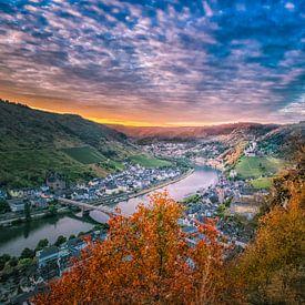 Historisch stad Cochem van Sander Poppe