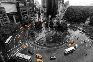 NYC Gelbe Taxis Columbus Circle von Natascha Velzel