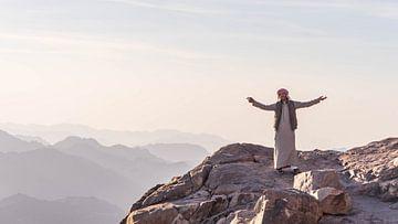 Bedoeïen op de top van Mount Sinai (Egypte) van Jessica Lokker