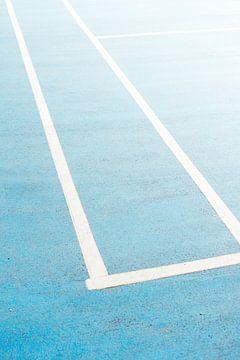 Blauw Sportveld van Patrycja Polechonska