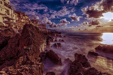 Zonsondergang Sicilie von Mario Calma