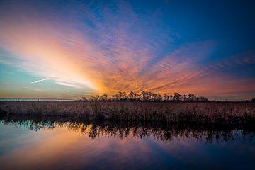 Sonnenaufgang Oostburg von Peter Deschepper