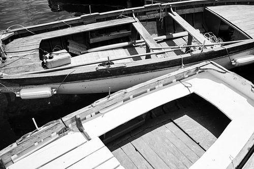 Fine art close up van boten  zwart wit