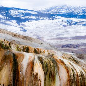 Colors of Mammoth Hot Springs Yellowstone van Sjaak den Breeje