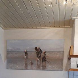 Kundenfoto: Kinder an der See (Jozef Israels), auf leinwand