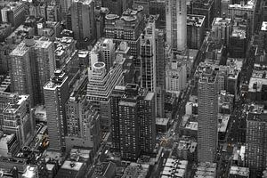 New York Yellow Cabs vanuit de lucht! van Maurits van Hout