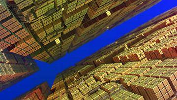 Entre les cubes sur Frank Heinz