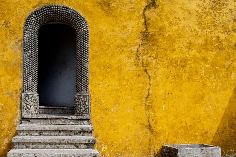 De gele muur van Ton de Koning
