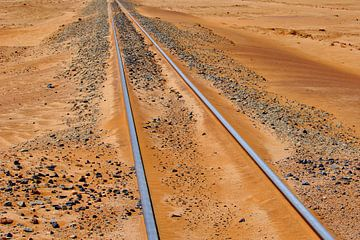 Verlassene Eisenbahnlinie von Inge Hogenbijl