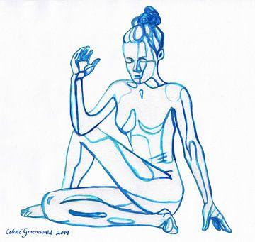Ardha Matsyendrasana | Der halbe Drehsitz von Celeste Groenewald