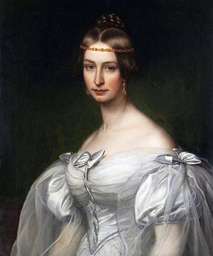 Bildnis der Frau Caroline Krafft, geb. Platner (1811-1873), FRIEDRICH DÜRCK, 1835