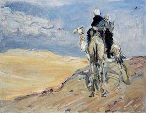 Sandsturm in der libyschen Wüste - Max Slevogt, 1914